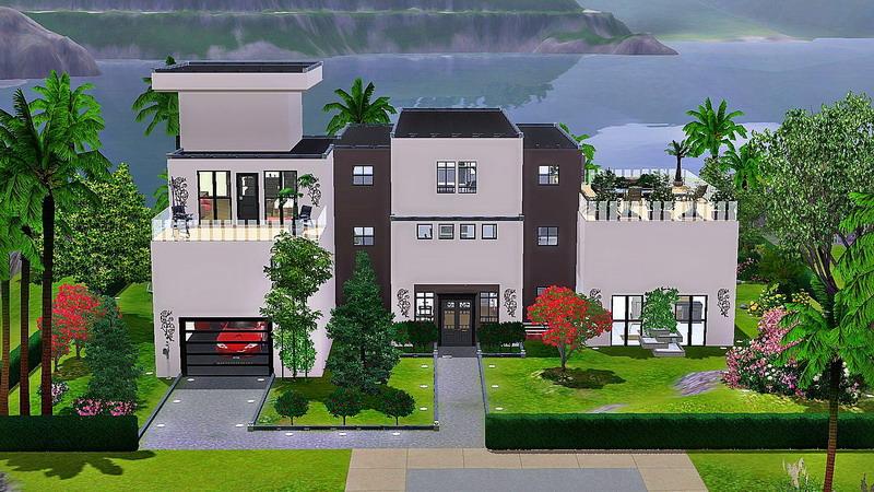 Les sims 3 maison ultra moderne ventana blog for Sims 4 maison moderne